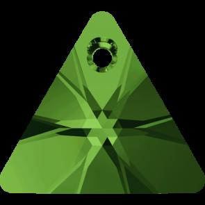 Pandantiv Swarovski 6628 XILION TRIANGLE PENDANT Dark Moss Green (260) 8 mm