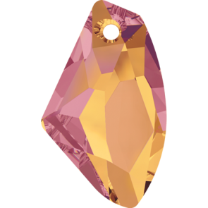 Pandantiv Swarovski 6656 GALACTIC VERTICAL Crystal Astral Pink (001 API) 27 mm