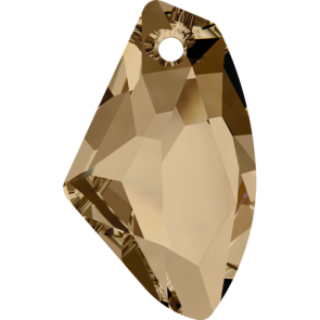 Pandantiv Swarovski 6656 GALACTIC VERTICAL Crystal Golden Shadow (001 GSHA) 19 mm