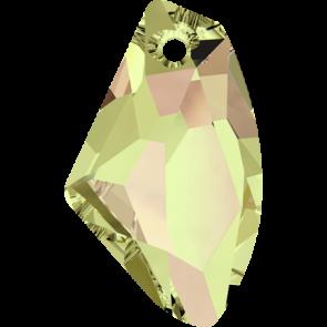 Pandantiv Swarovski 6656 GALACTIC VERTICAL Crystal Luminous Green (001 LUMG) 19 mm