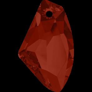Pandantiv Swarovski 6656 GALACTIC VERTICAL Crystal Red Magma (001 REDM) 27 mm