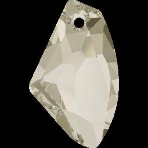 Pandantiv Swarovski 6656 GALACTIC VERTICAL Crystal Silver Shade (001 SSHA) 19 mm