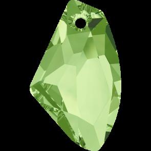 Pandantiv Swarovski 6656 GALACTIC VERTICAL Peridot (214) 19 mm