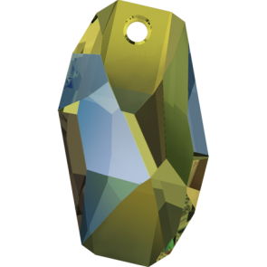 Pandantiv Swarovski 6673 METEOR PENDANT Crystal Iridescent Green (001 IRIG) 28 mm