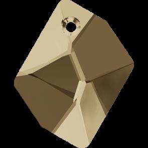 Pandantiv Swarovski 6680 COSMIC PENDANT Crystal Golden Shadow (001 GSHA) 14 mm