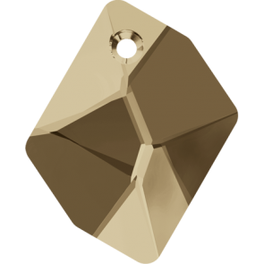 Pandantiv Swarovski 6680 COSMIC PENDANT Crystal Golden Shadow (001 GSHA) 20 mm