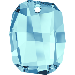 Pandantiv Swarovski 6685 GRAPHIC PENDANT Aquamarine (202) 19 mm