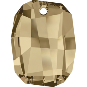 Pandantiv Swarovski 6685 GRAPHIC PENDANT Crystal Golden Shadow (001 GSHA) 19 mm