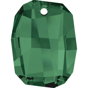 Pandantiv Swarovski 6685 GRAPHIC PENDANT Emerald (205) 28 mm