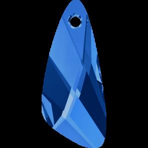 Pandantiv Swarovski 6690 WING PENDANT Capri Blue (243) 27 mm