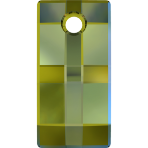 Pandantiv Swarovski 6696 URBAN PENDANT Crystal Iridescent Green (001 IRIG) 20 mm