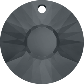 Pandantiv Swarovski 6724 SUN PENDANT Crystal Silver Night (001 SINI) 19 mm