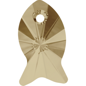 Pandantiv Swarovski 6727 FISH PENDANT Crystal Golden Shadow (001 GSHA) 18 mm