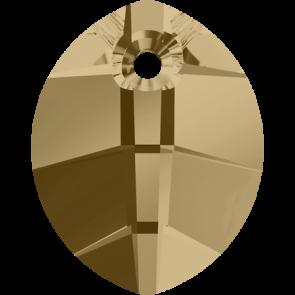 Pandantiv Swarovski 6734 Crystal Golden Shadow (001 GSHA) 14 mm