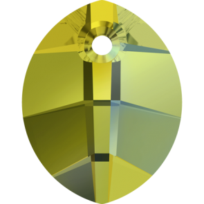 Pandantiv Swarovski 6734 Crystal Iridescent Green (001 IRIG) 14 mm