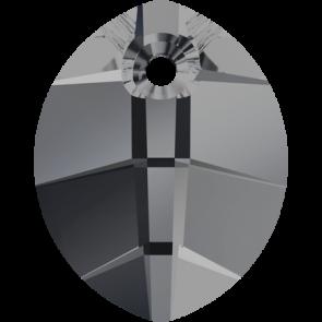 Pandantiv Swarovski 6734 Crystal Silver Night (001 SINI) 14 mm