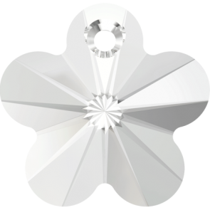 Pandantiv Swarovski 6744 FLOWER PENDANT Crystal (001) 14 mm