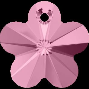 Pandantiv Swarovski 6744 FLOWER PENDANT Light Rose (223) 14 mm - Floare Roz