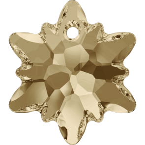 Pandantiv Swarovski 6748 EDELWEISS PENDANT Crystal Golden Shadow (001 GSHA) 18 mm
