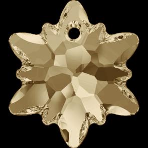 Pandantiv Swarovski 6748 EDELWEISS PENDANT Crystal Golden Shadow (001 GSHA) 28 mm