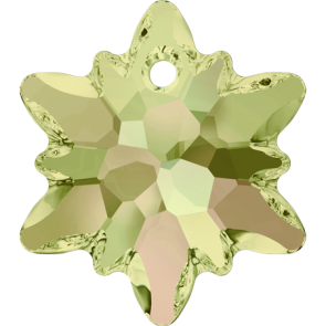 Pandantiv Swarovski 6748 EDELWEISS PENDANT Crystal Luminous Green (001 LUMG) 18 mm