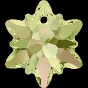 Pandantiv Swarovski 6748 EDELWEISS PENDANT Crystal Luminous Green (001 LUMG) 28 mm