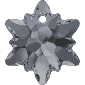 Pandantiv Swarovski 6748 EDELWEISS PENDANT Crystal Silver Night (001 SINI) 14 mm