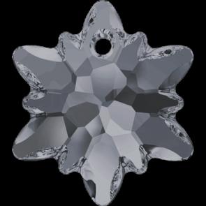 Pandantiv Swarovski 6748 EDELWEISS PENDANT Crystal Silver Night (001 SINI) 18 mm