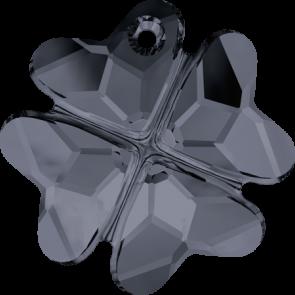 Pandantiv Swarovski 6764 CLOVER PENDANT Crystal Silver Night (001 SINI) 19 mm