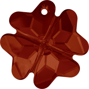 Pandantiv Swarovski 6764 CLOVER PENDANT Crystal Red Magma (001 REDM) 19 mm