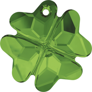 Pandantiv Swarovski 6764 CLOVER PENDANT Dark Moss Green (260) 19 mm