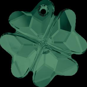 Pandantiv Swarovski 6764 CLOVER PENDANT Emerald (205) 19 mm