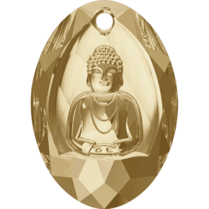 Pandantiv Swarovski 6871 BUDDHA PENDANT Crystal Golden Shadow (001 GSHA) 28x19,8 mm