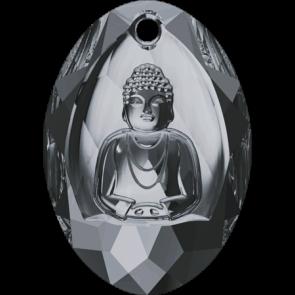 Pandantiv Swarovski 6871 BUDDHA PENDANT Crystal Silver Night (001 SINI) 28x19,8 mm