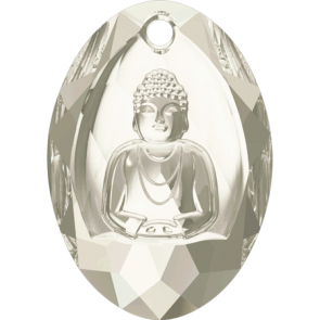 Pandantiv Swarovski 6871 BUDDHA PENDANT Crystal Silver Shade (001 SSHA) 28x19,8 mm
