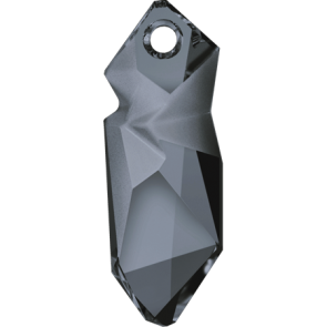Pandantiv Swarovski 6913 Crystal Silver Night (001 SINI) 40 mm