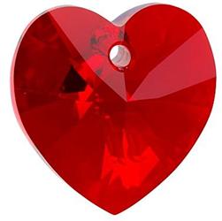 Pandantiv Swarovski 6228 XILION HEART PENDANT Light Siam AB (227 AB) 10,3 x 10 mm