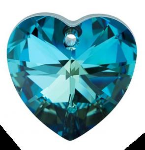 Pandantiv Swarovski 6228 XILION HEART PENDANT Crystal Bermuda Blue (001 BB) 14,4 x 14 mm - Inimioara