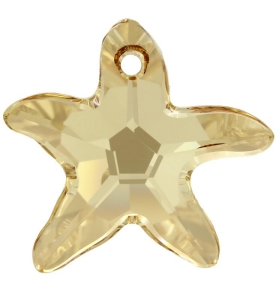 Pandantiv Swarovski 6721 STARFISH PENDANT Crystal Golden Shadow (001 GSHA) 28 mm - Stea de Mare