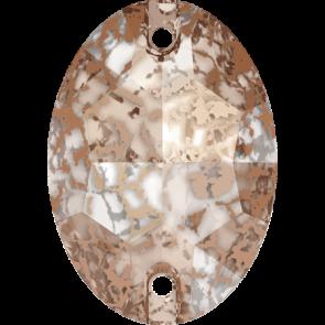Cristale Swarovski De Cusut 3210 Crystal Rose Patina F (001 ROSPA) 16 x 11 mm