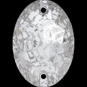Cristale Swarovski De Cusut 3210 Crystal Silver Patina F (001 SILPA) 10 x 7 mm