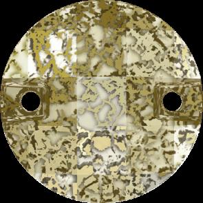 Cristale Swarovski De Cusut 3220 Crystal Gold Patina F (001 GOLPA) 14 mm