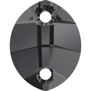 Cristale Swarovski De Cusut 3224 Crystal Silver Night (001 SINI) 23 x 18 mm