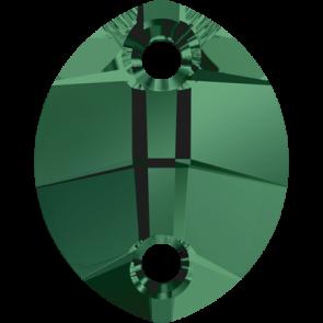 Cristale Swarovski De Cusut 3224 Emerald (205) 23 x 18 mm