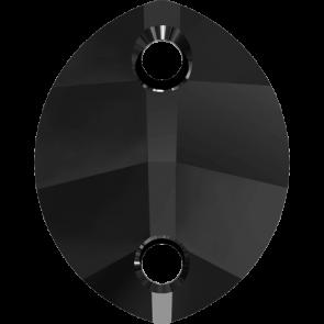 Cristale Swarovski De Cusut 3224 Jet (280) 14 x 11 mm