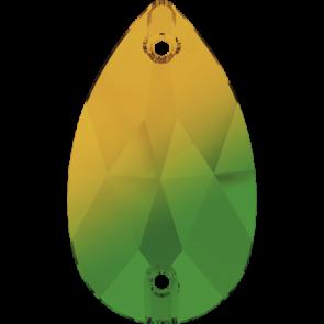 Cristale Swarovski De Cusut 3230 Fern Green-Topaz Bl. (724) 12 x 7 mm