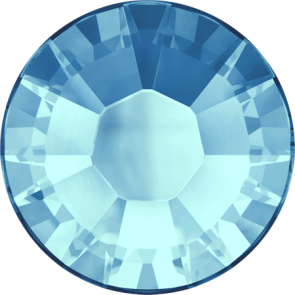 Cristale Swarovski cu spate plat si lipire la cald 2038 Aquamarine A HF (202) SS 6