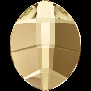 Cristale Swarovski cu spate plat si lipire la cald 2204 Crystal Golden Shadow M HF (001 GSHA) 6 x 4,8 mm