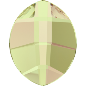 Cristale Swarovski cu spate plat si lipire la cald 2204 Crystal Luminous Green M HF (001 LUMG) 6 x 4,8 mm