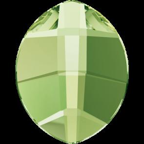 Cristale Swarovski cu spate plat si lipire la cald 2204 Peridot M HF (214) 6 x 4,8 mm
